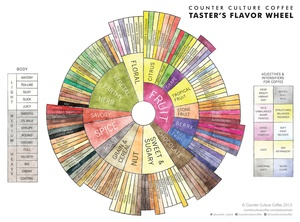 Find out where your favorite blend lies in a hyper-detailed flavor wheel like this, and you'll be able to better pick out what you like to drink.
