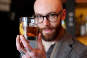 A finished Old Fashioned by Donny Clutterbuck, head bartender at Cure in Rochester, NY and president of the US Bartenders Guild Rochester.