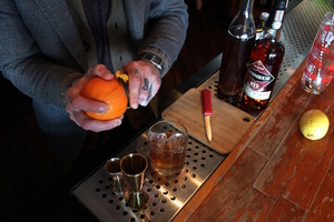 This can be a divisive subject, but we like a little bit of citrus in our Old Fashioned. It adds presentation points, and contributes a very subtle sweetness.