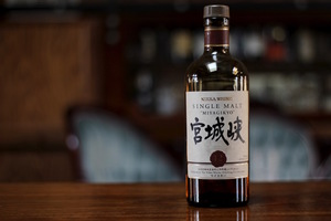 """Nikka Miyagikyo 12 Year Japanese Whiskey. """"Single malt"""" is a Scotch term that means it was made entirely in a single distillery."""