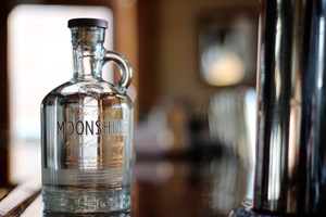 """Stillhouse """"Moonshine."""" Which is to say, unaged bourbon that appropriates a term for illegal backwoods whiskey."""