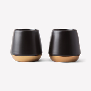 Junior Demitasse Mugs, Matte Black
