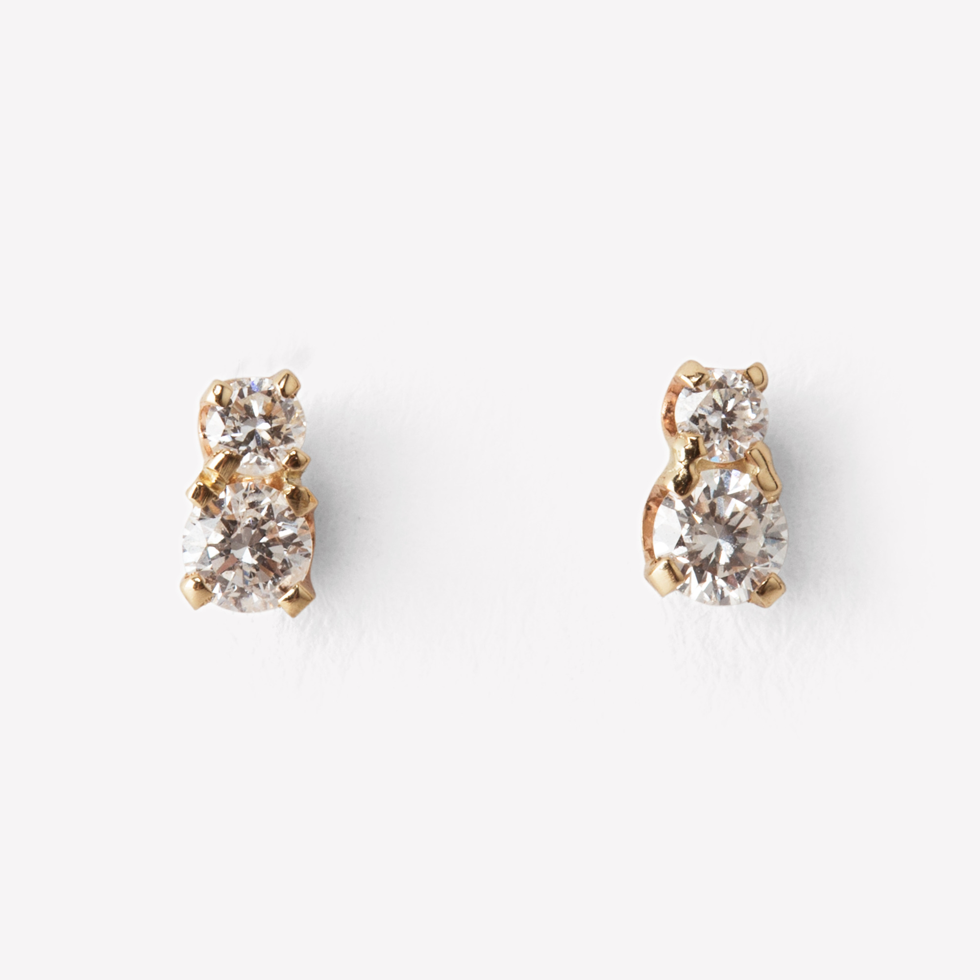 earrings itm diamonds diamond real backs stud butterfly amj gold