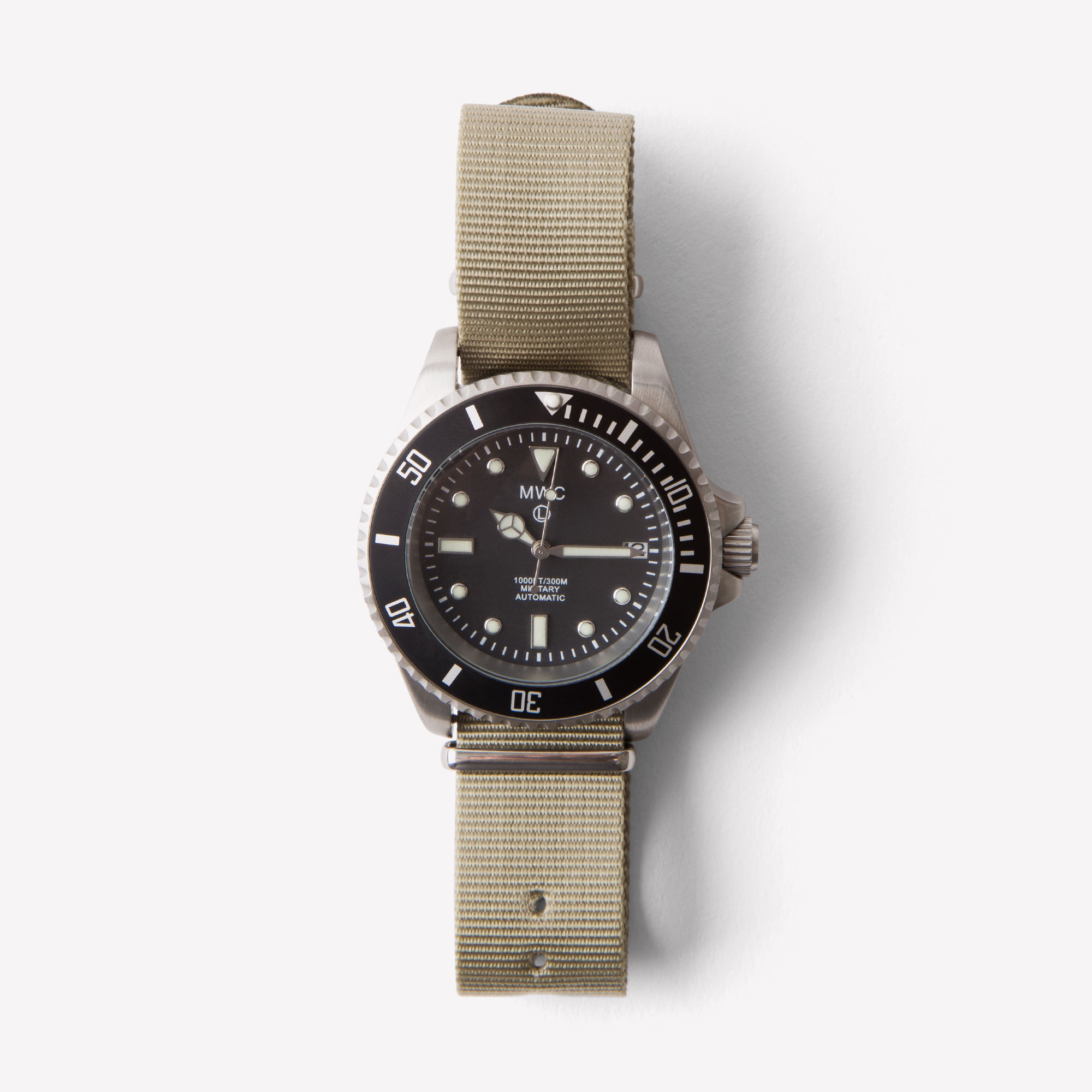 htm watches model strap canvas khaki series