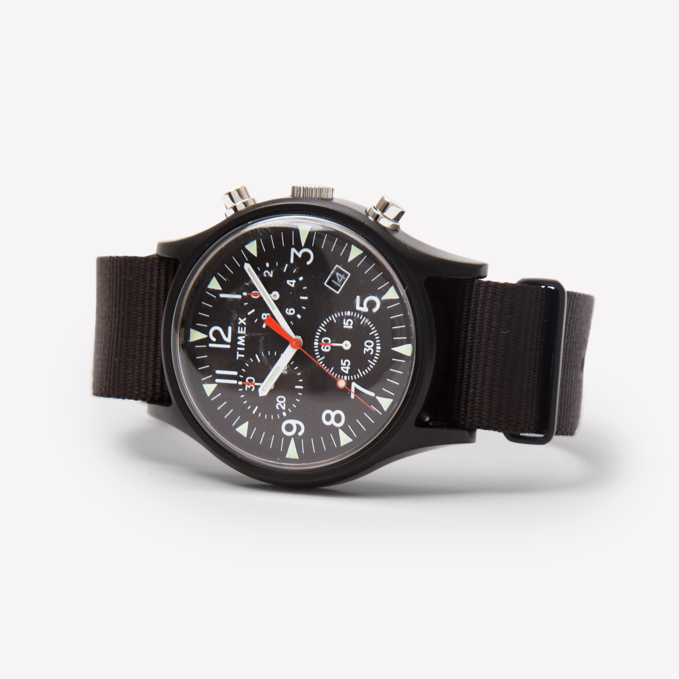 black aluminium aluminum timex post watches times store chronograph watch bespoke