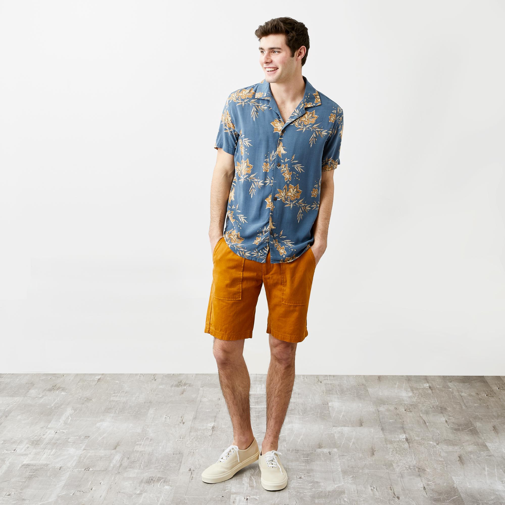 a9fd7fcba124ba Rhythm Vintage Aloha Short Sleeve Shirt, Pacific Blue | Bespoke Post