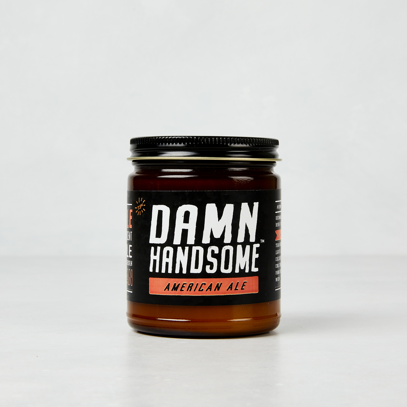 Damn Handsome Grooming Co. American Ale Soy Candle