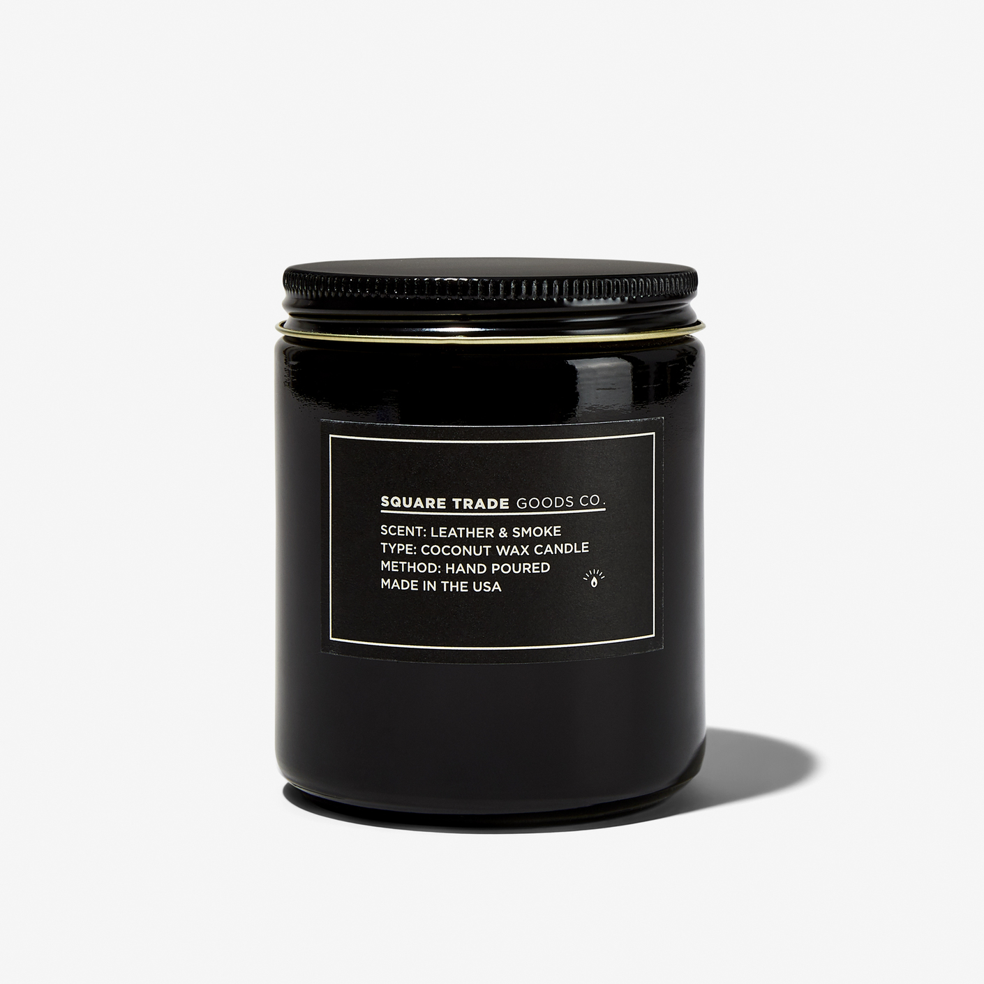 Square Trade Goods Co Leather Smoke Candle Bespoke Post